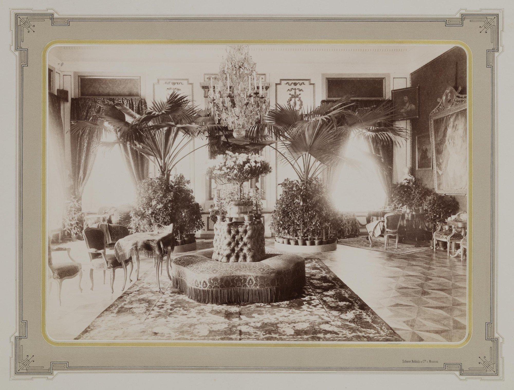 1883-1886. Усадьба Кусково. Дворец. Малиновая гостиная