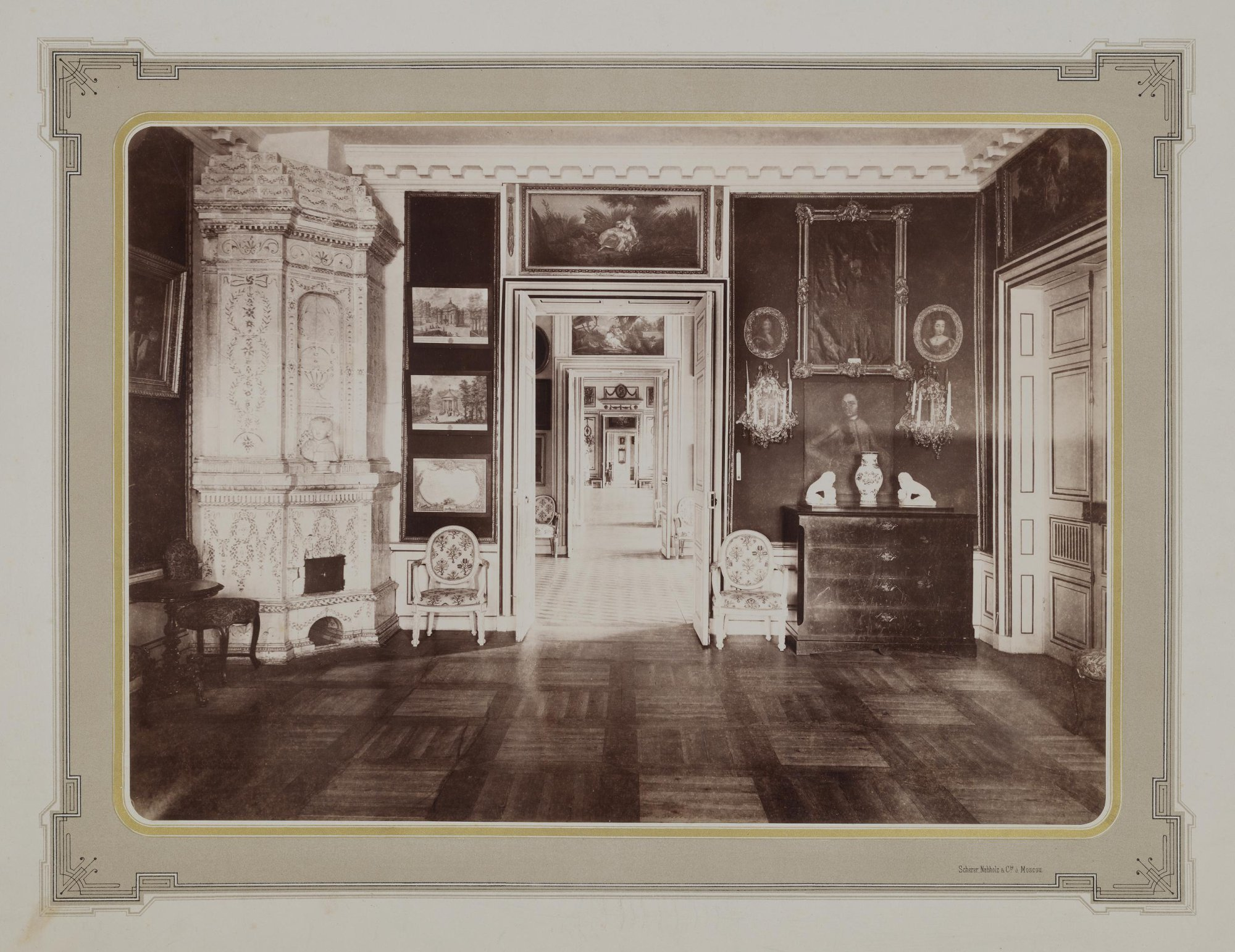 1883-1886. Усадьба Кусково. Дворец. Музыкальная гостиная