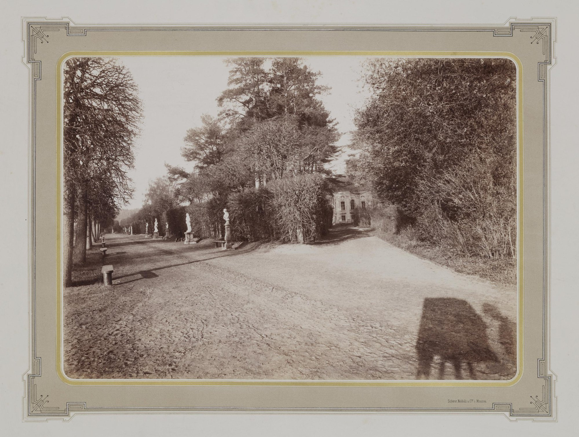 1883-1886. Усадьба Кусково. Регулярный парк с видом на павильон Эрмитаж