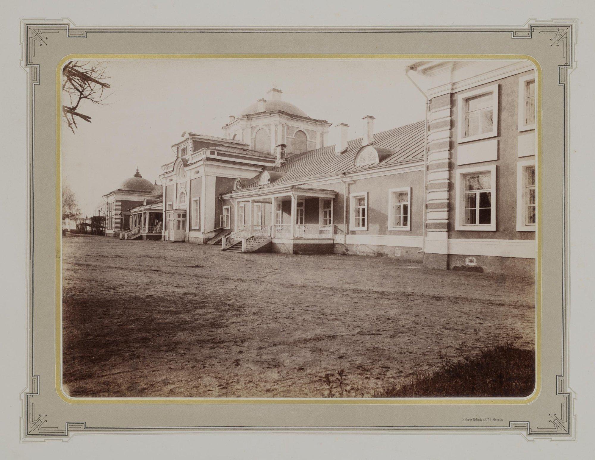 1883-1886. Усадьба Кусково. Северный фасад Оранжереи