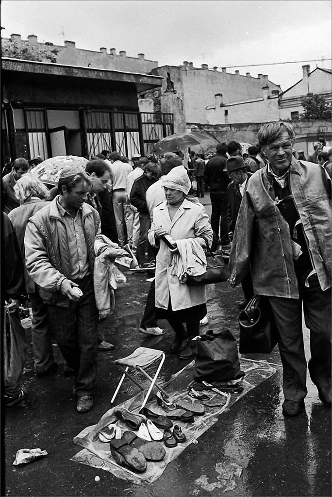1989. Барахолка на Сенном рынке. Ленинград
