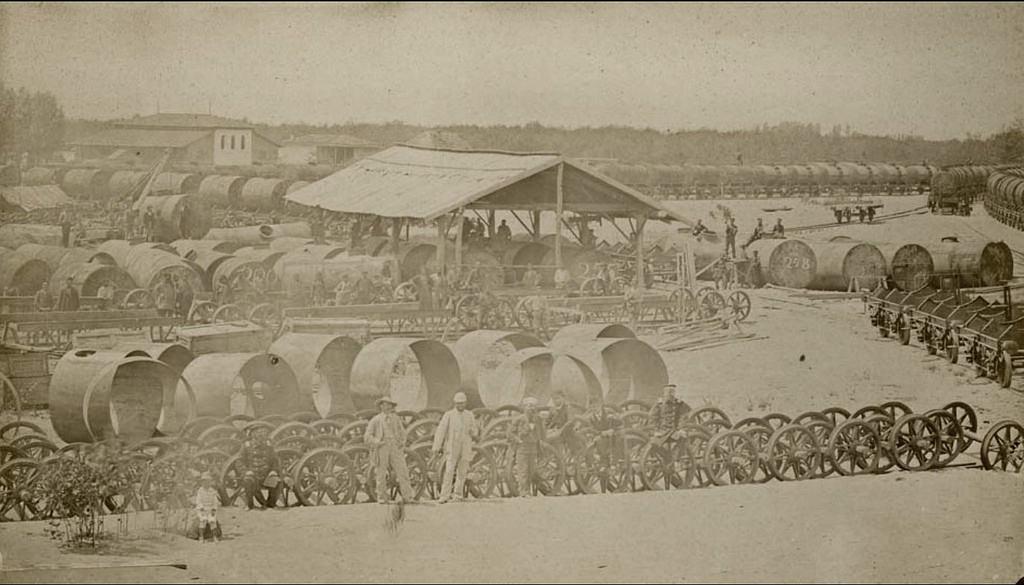 Нефтяные склады. 1882