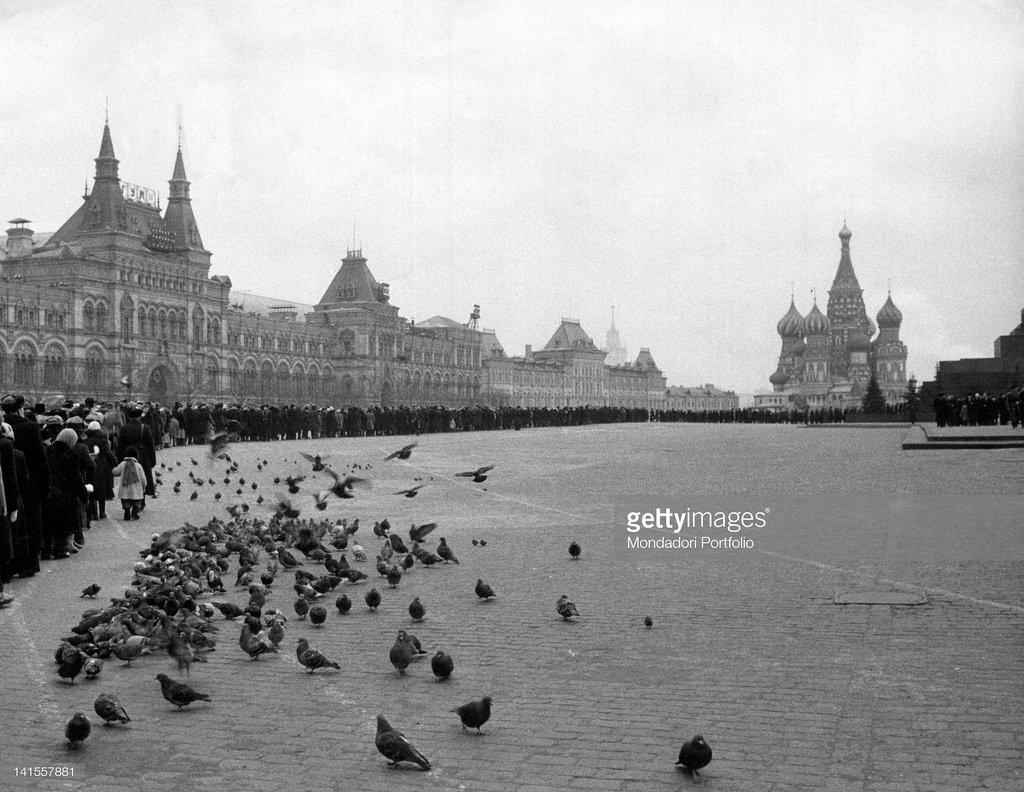 1960. Москва. Очередь в Мавзолей