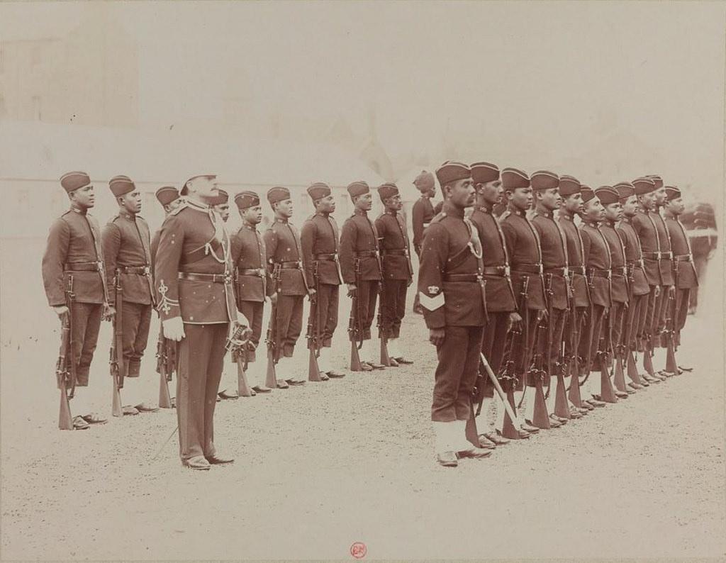 21. Индийские солдаты полиции Малайзии
