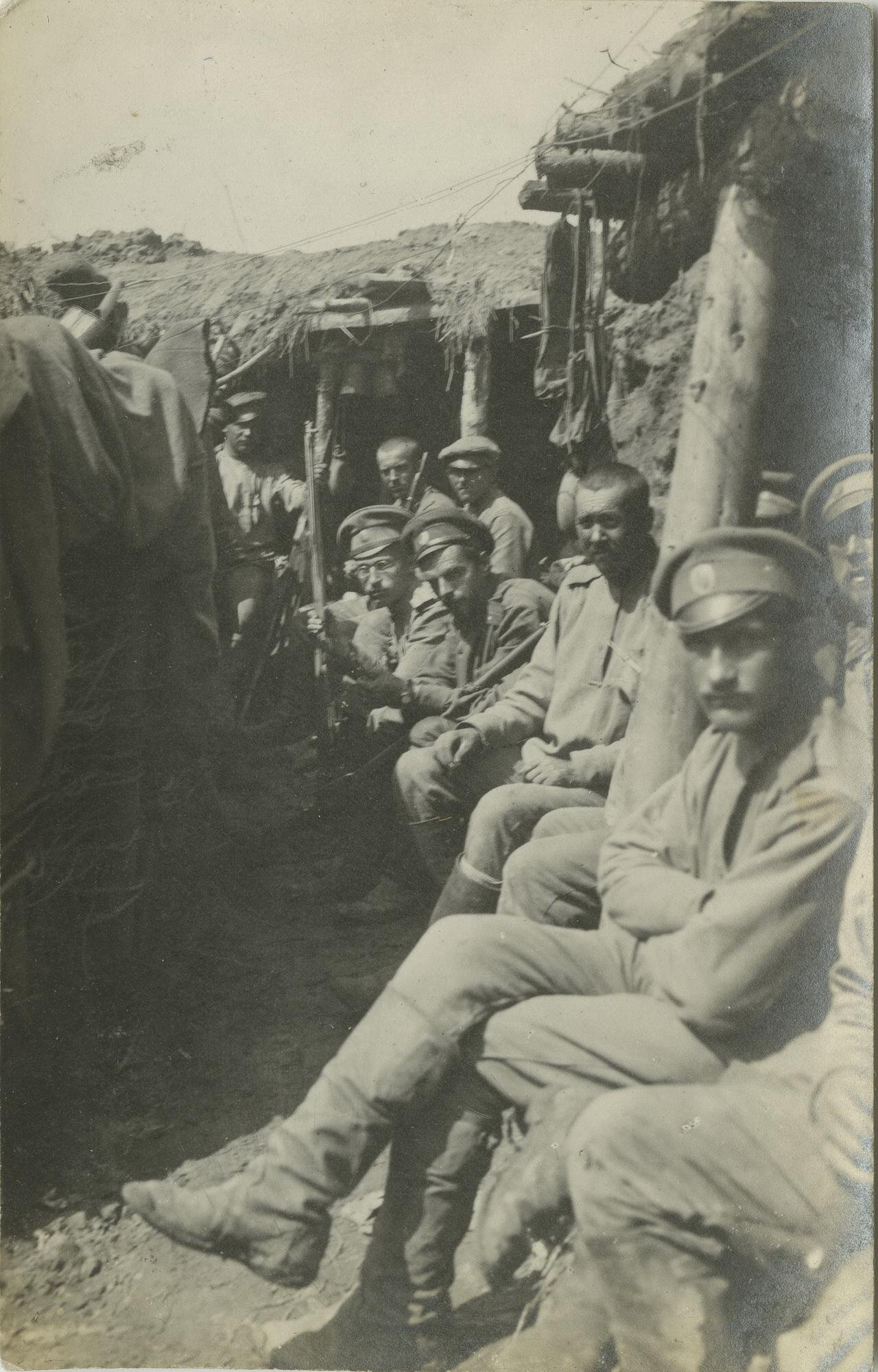 1916. В окопе