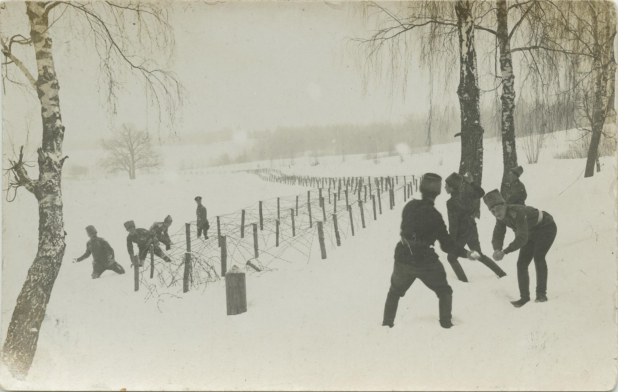 1916. Игра в снежки