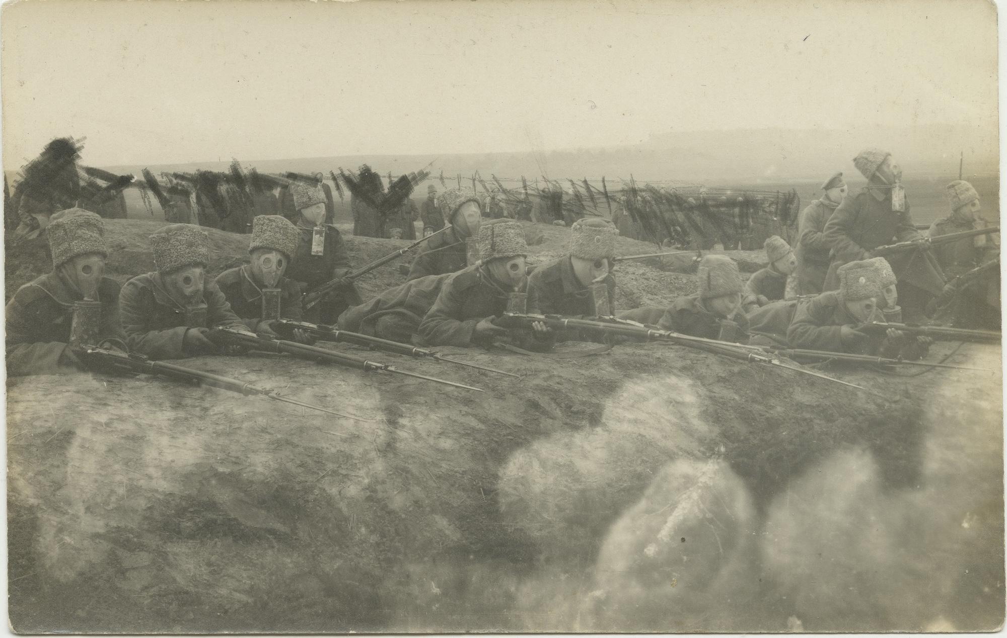 1916. Неприятель атакует удушливыми газами