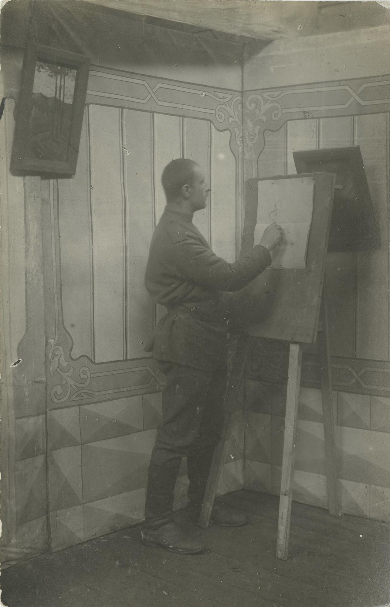 1916. Полковой художник