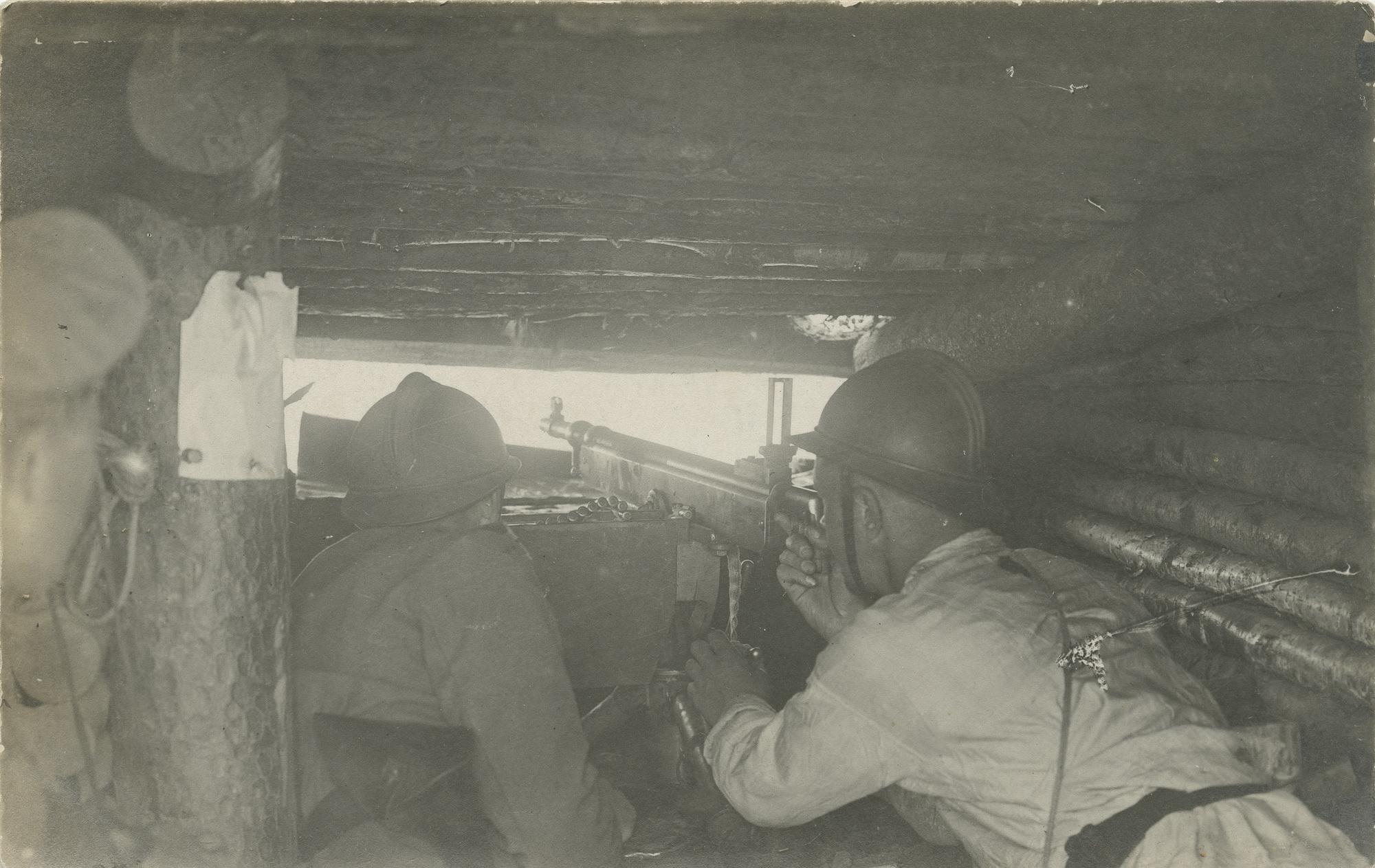 1916. Стрельба из укрепленной огневой точки