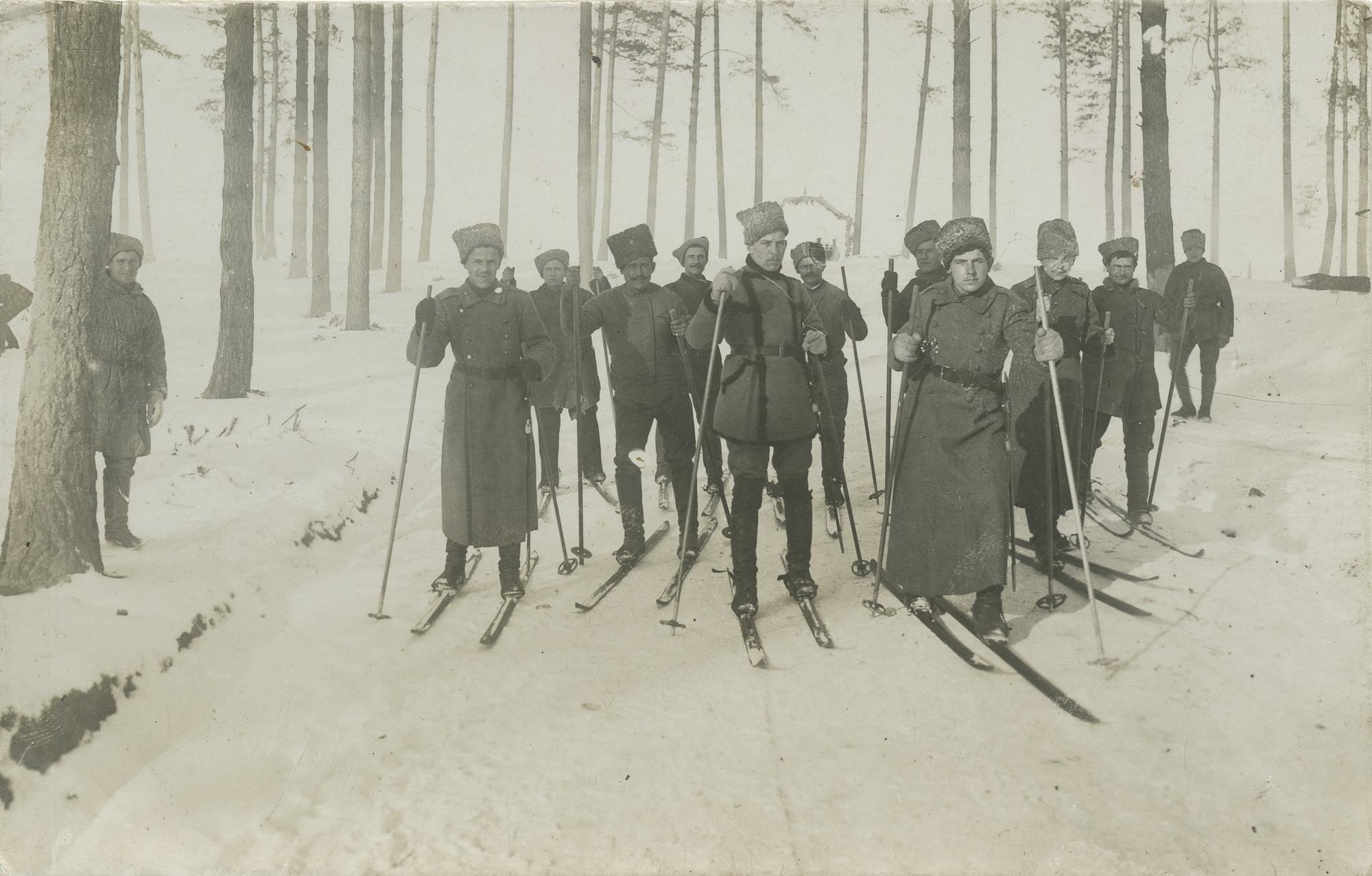 1916.На лыжах
