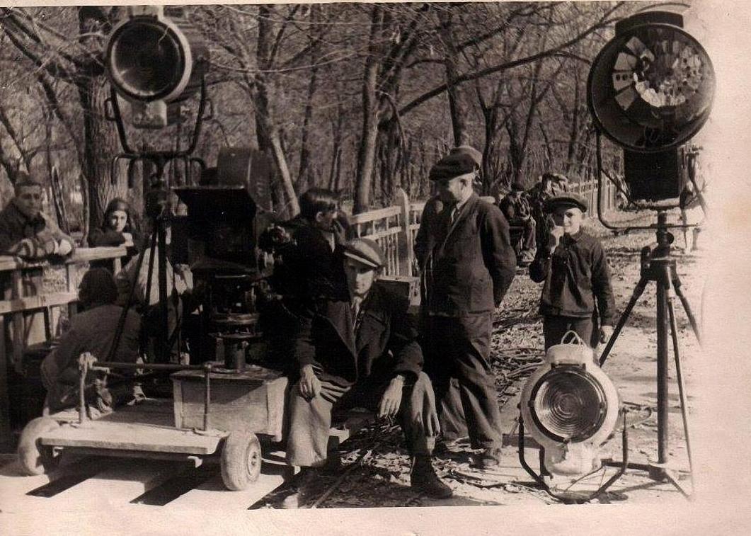 1941. На съемках фильма «Машенька»