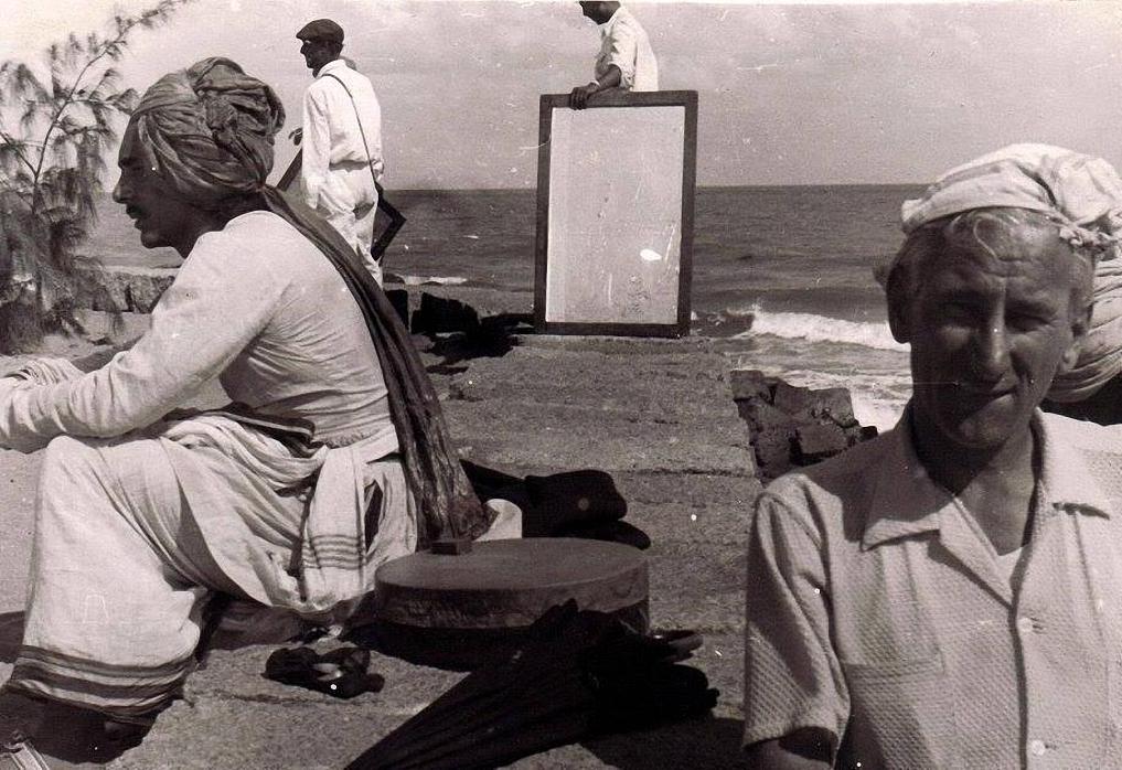 1956. Индия. На съёмках фильма «Хождение за три моря»
