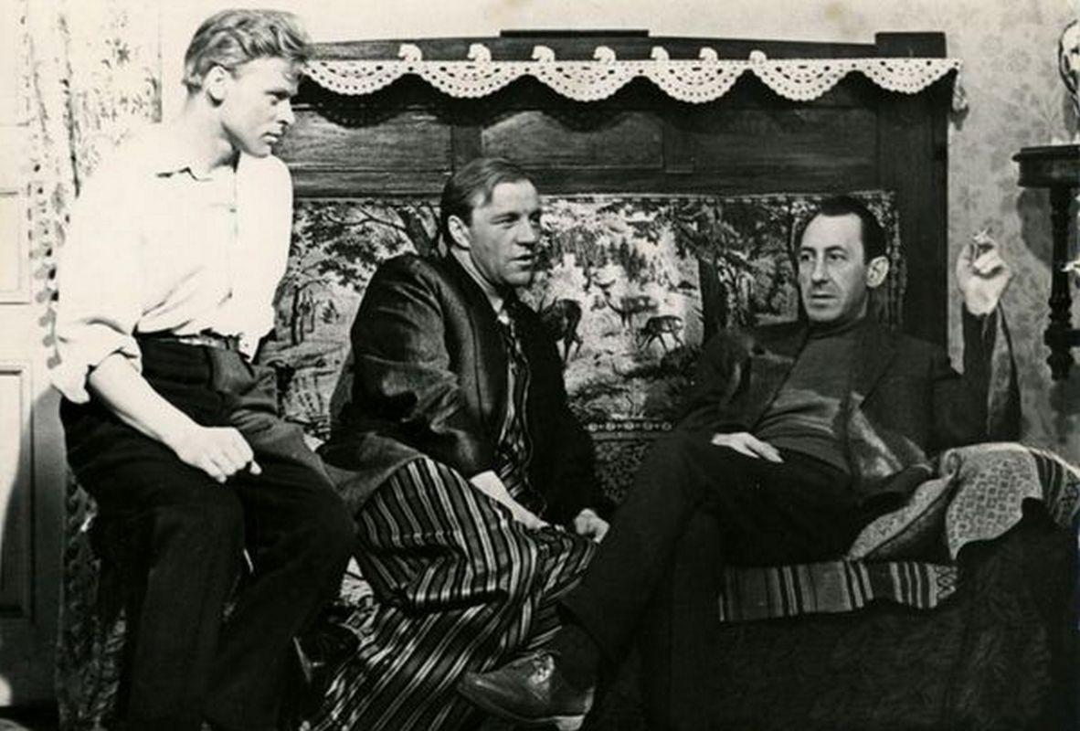 1963. Виталий Коняев, Михаил Ульянов и Владимир Басов на съемках фильма «Тишина»