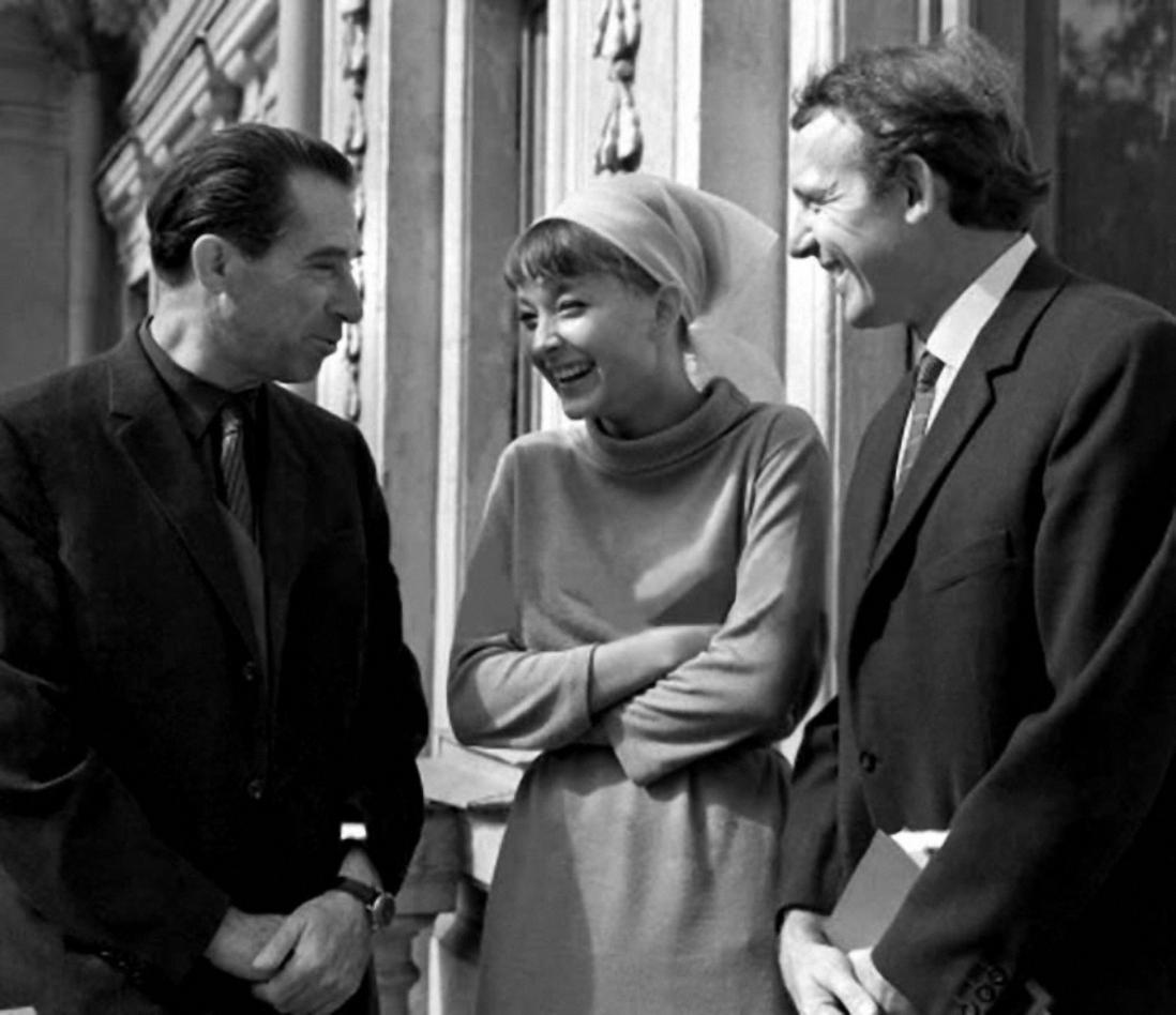 1964. Григорий Козинцев, Анастасия Вертинская и Иннокентий Смоктуновский