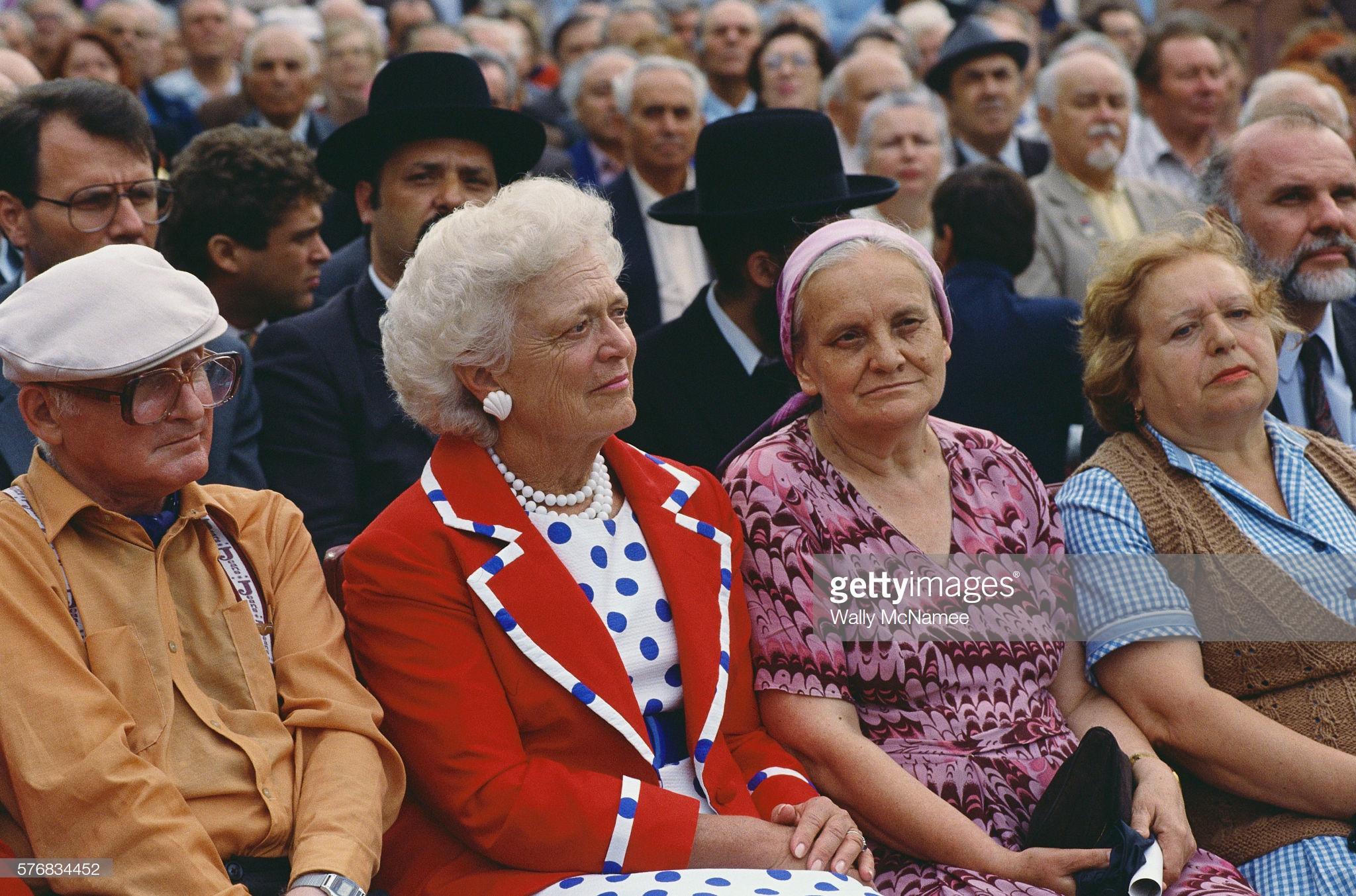 Барбара Буш пошла в народ (во время саммита Горбачева и Буша)