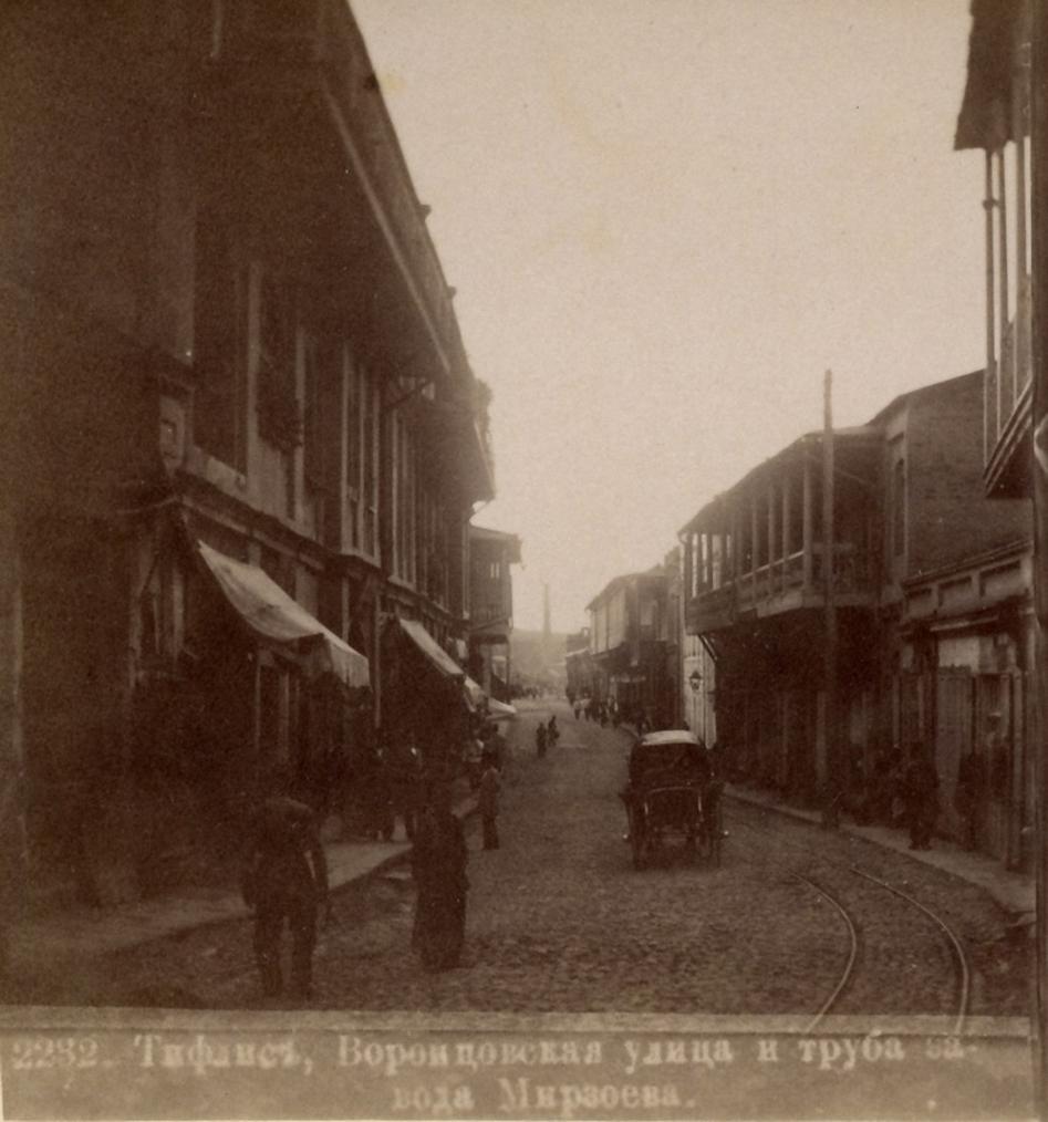 Воронцовская улица и труба завода Мирзоева