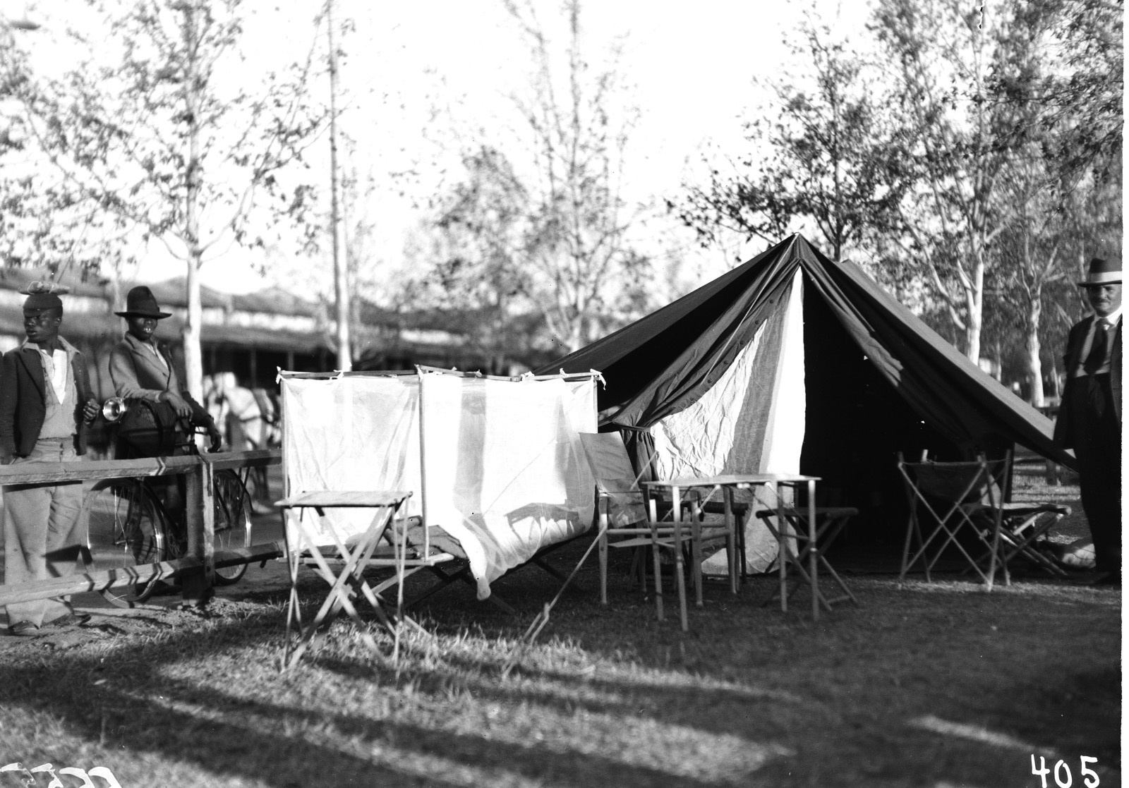 Претория. Палатка прессы. Демонстрация оборудования