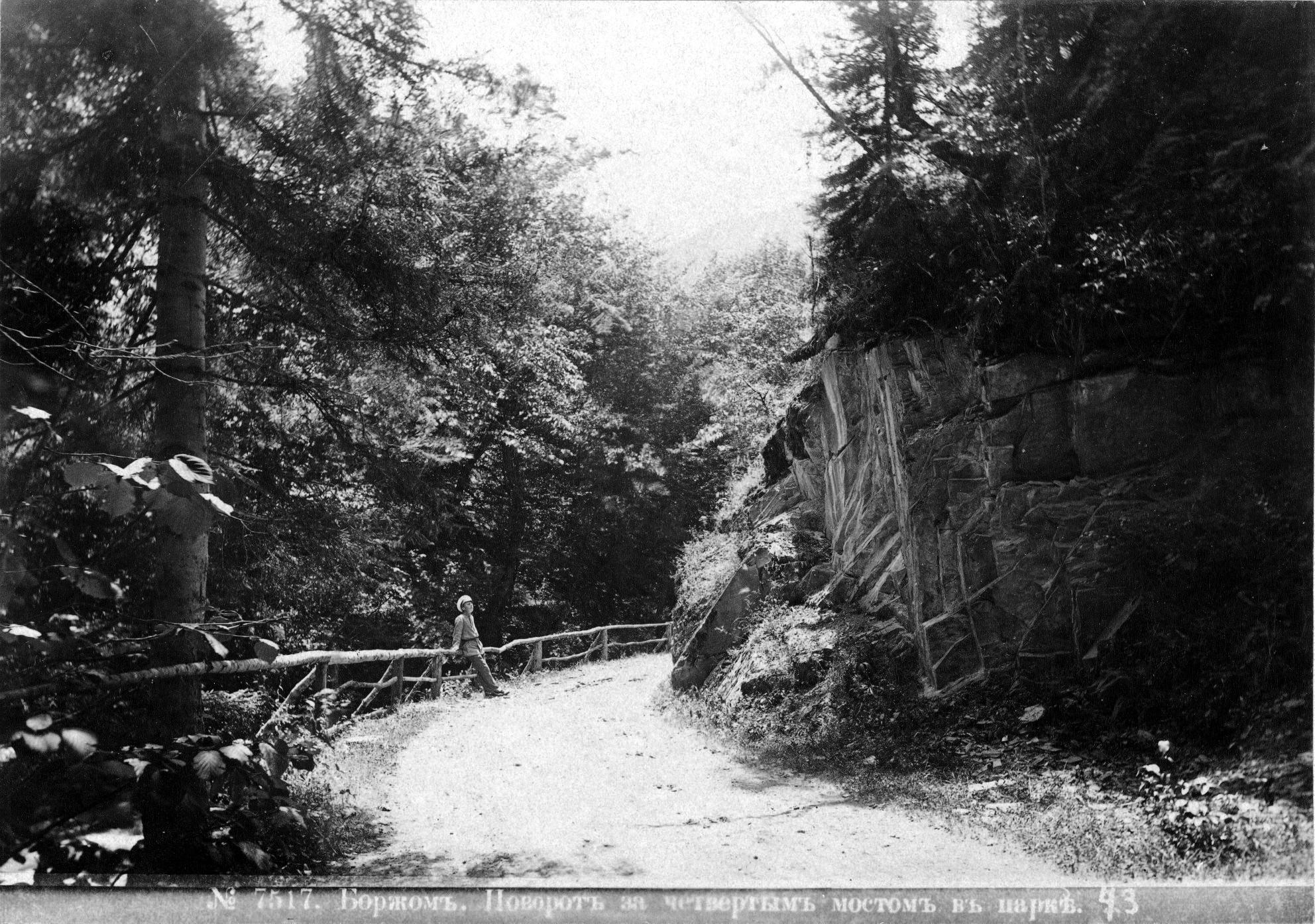 Поворот зха четвёртым мостом в парке