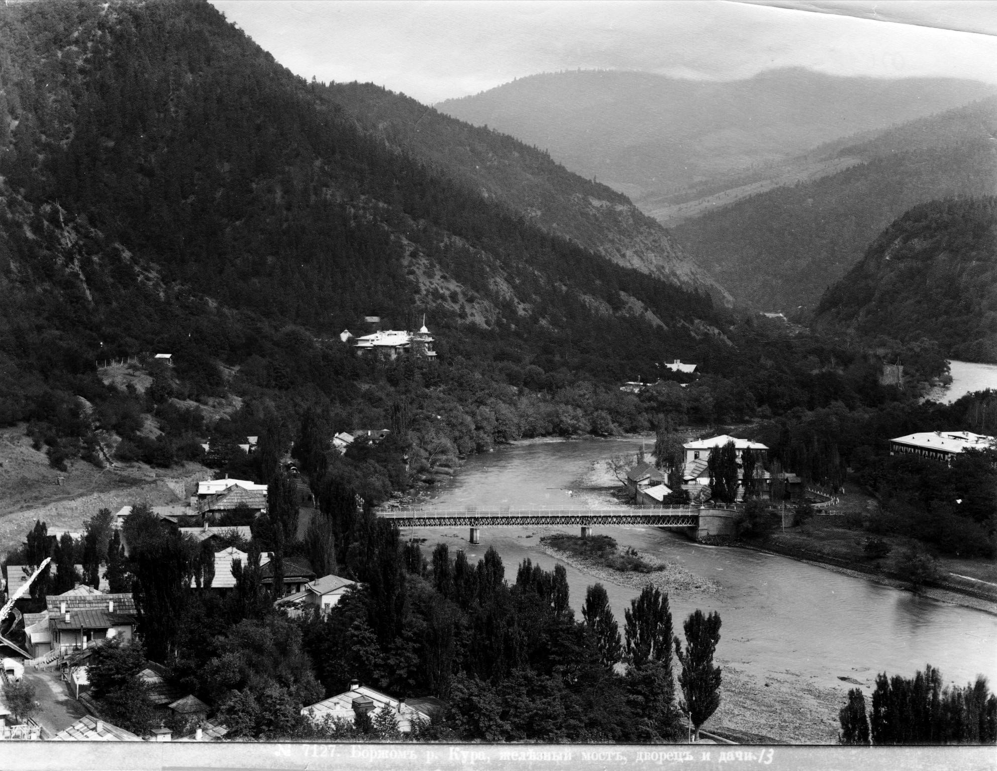 Река Кура, Железный мост, Дворец и дачи