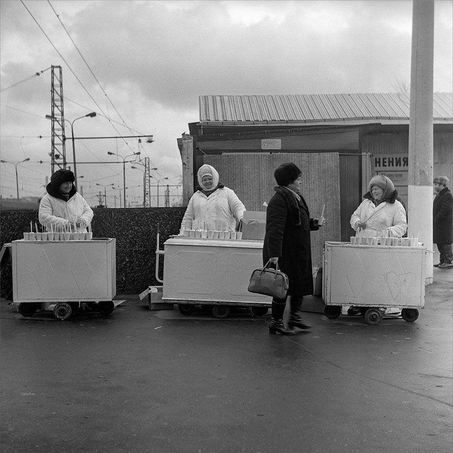 1981. Мороженое в стаканчиках. Москва