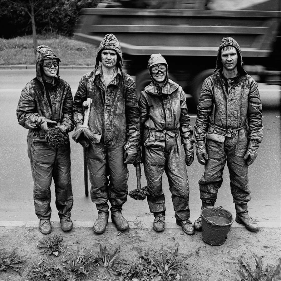 1984. Бригада маляров. Москва,