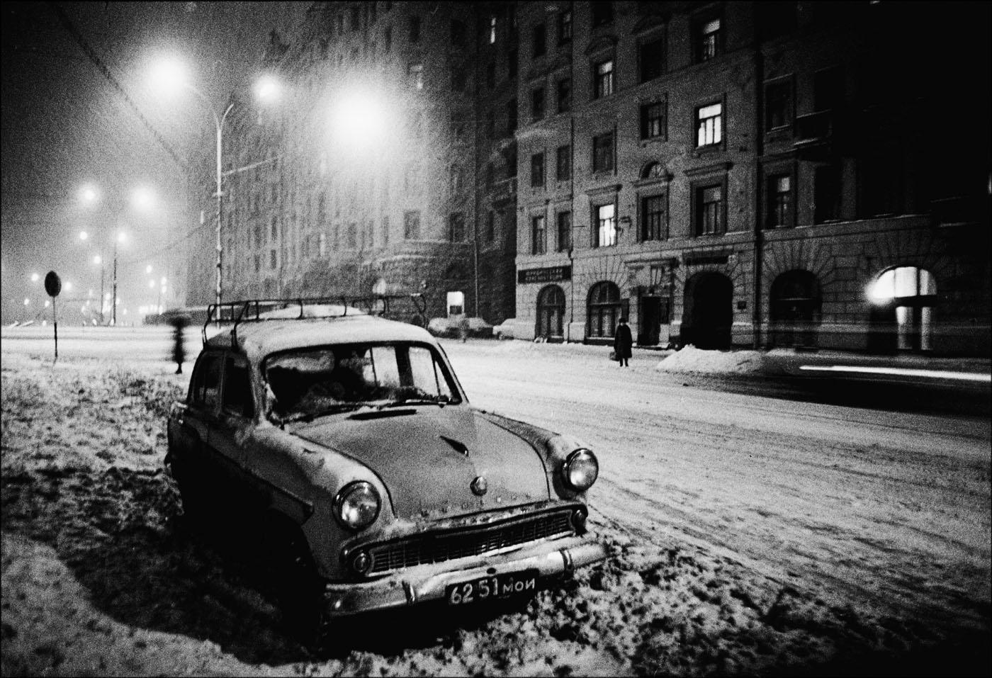 1985. Зимний вечер на Садово-Триумфальной. Москва