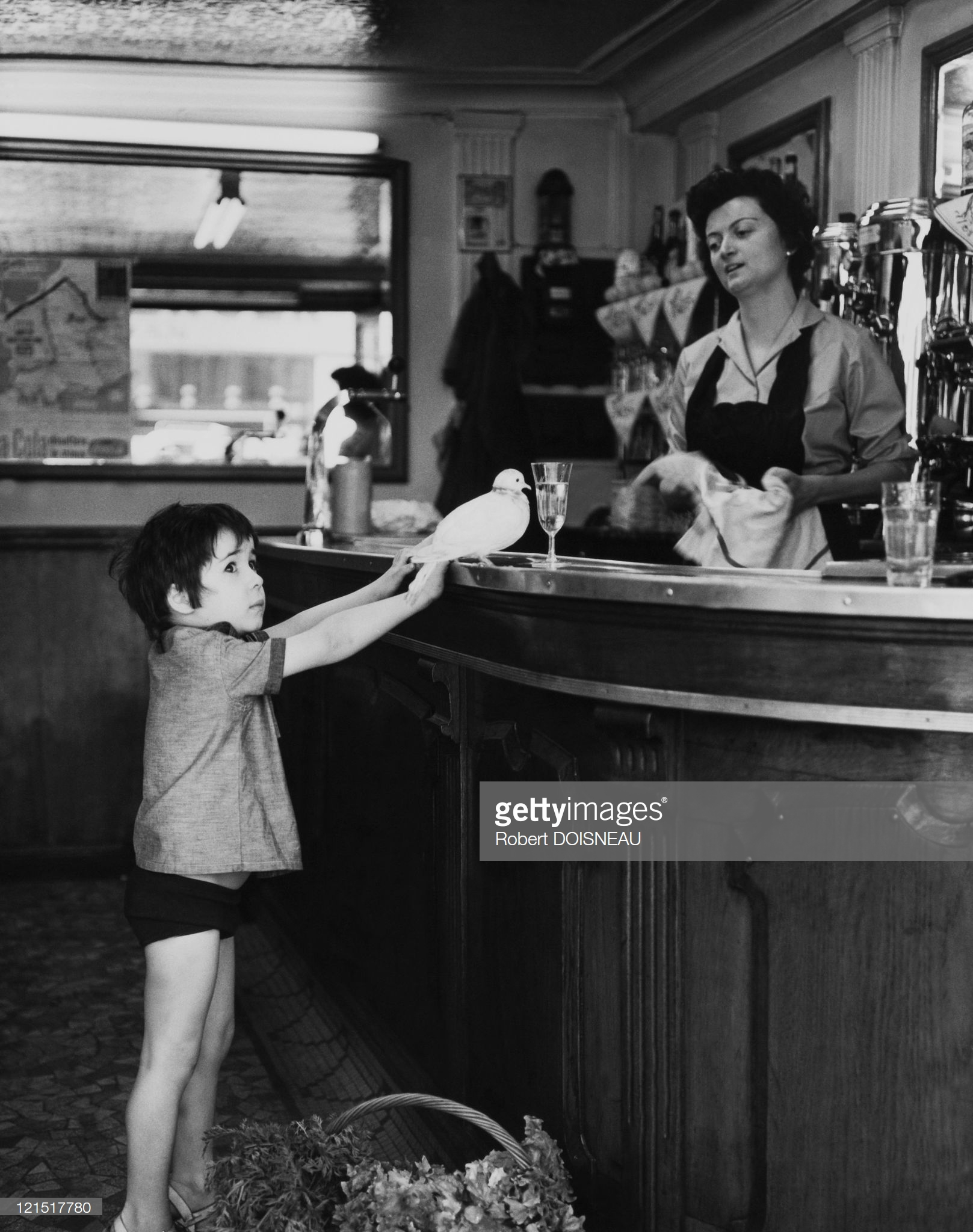 1950. Девочка и голубь.