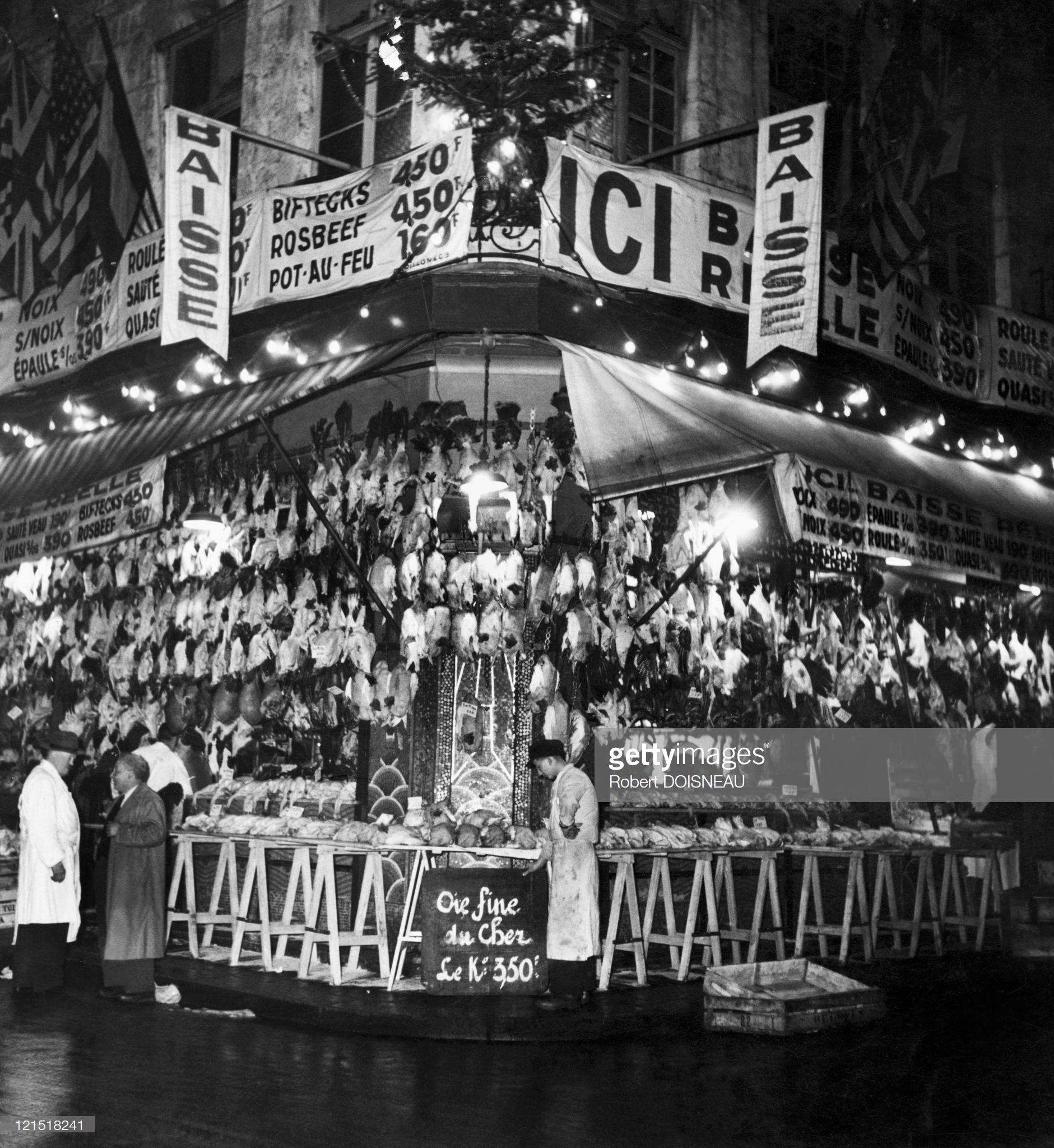 1954. Ле-Аль. Предрождественная продажа птицы