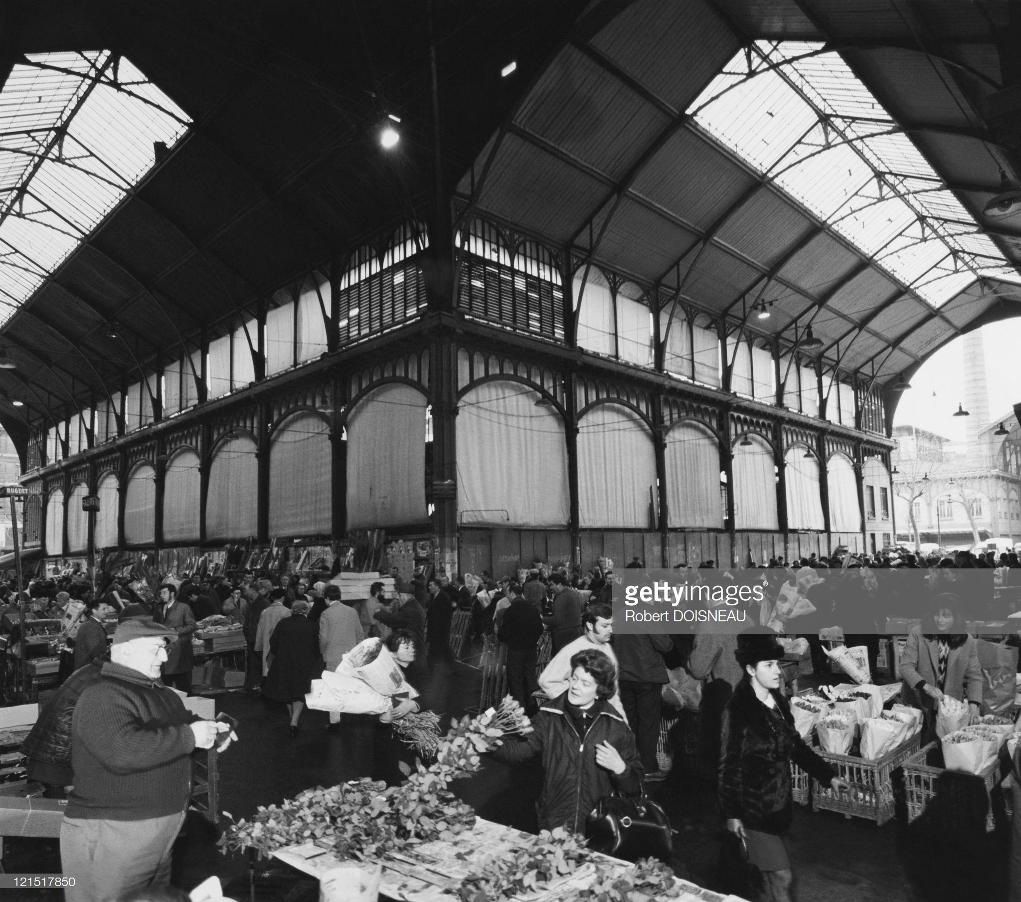 1960. Ле-Аль. Цветочный рынок