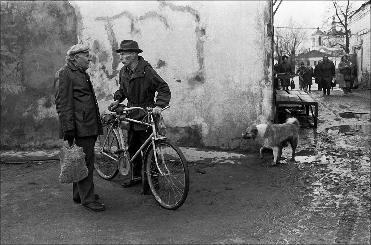 1990. Рынок в Боровске,