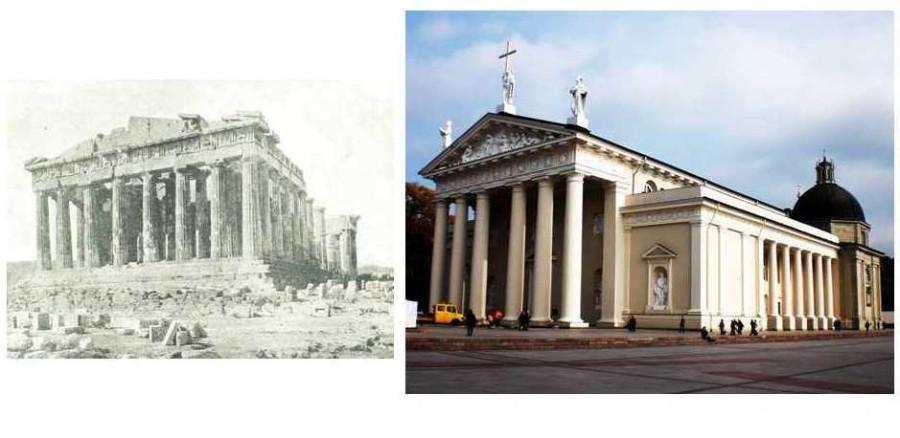 partenonas ir katedra
