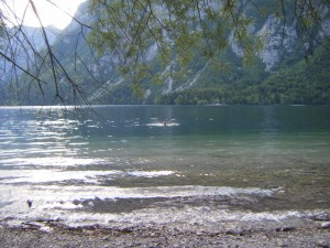 Swimming in Lake Bohinj