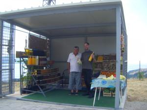 Roadside fruit and veg stall
