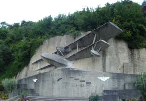 Biplane memorial