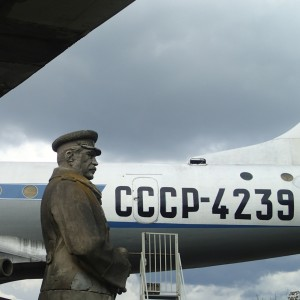 Stalin and a plane