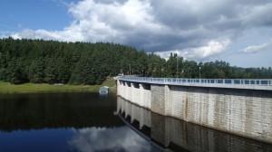 Bridge over reservoir