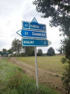 Czech road sign