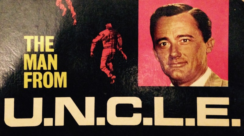 Man from UNCLE annual front cover showing Robert Vaughn as Napoleon Solo