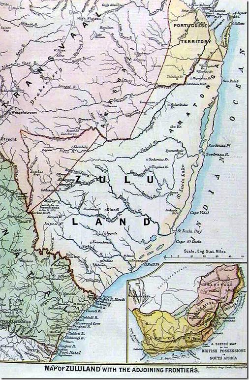 1879 Zululand Map