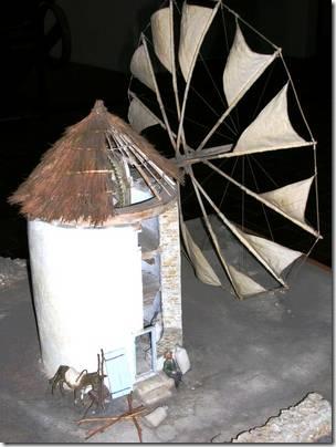 Мельница средиземноморского типа, строго ориентированная на ветер. Крит, около 1850 AD