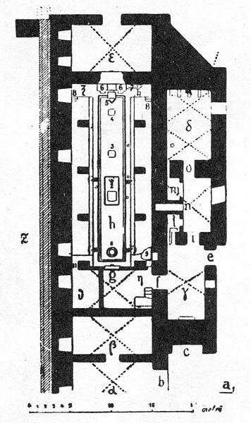 Terme di Caracalla: pianta del Mitreo.