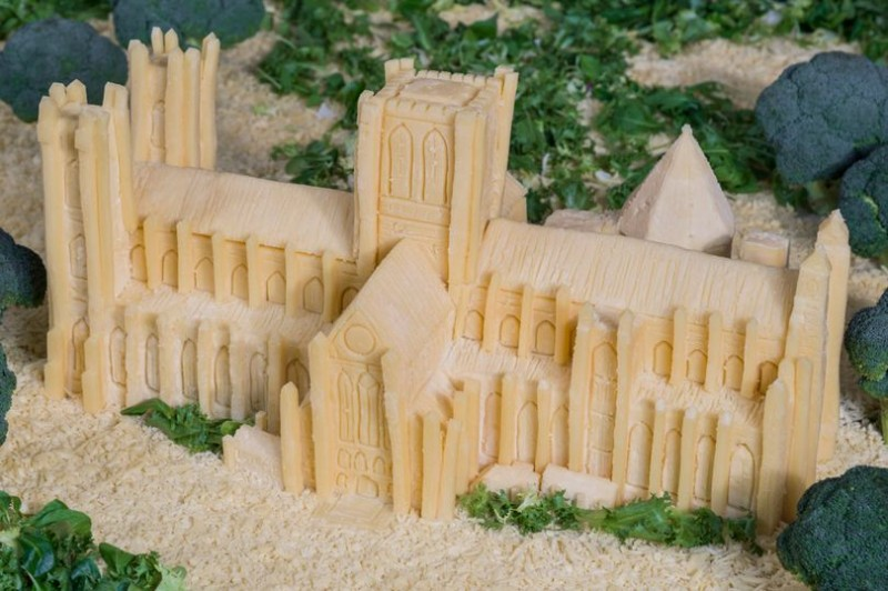 York Minster in Wensleydale cheese (don't ask)
