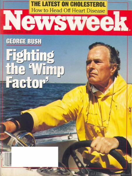 Bush Wimp Factor Newsweek cover, Oct 19 1987-8x6