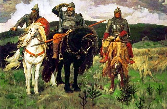 Три богатыря - Белоруссия, Россия, Украина.