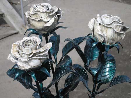 Сделать розу из металла самому