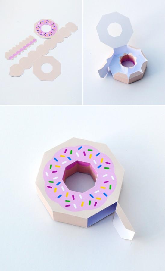 Как сделать пончик из бумаги