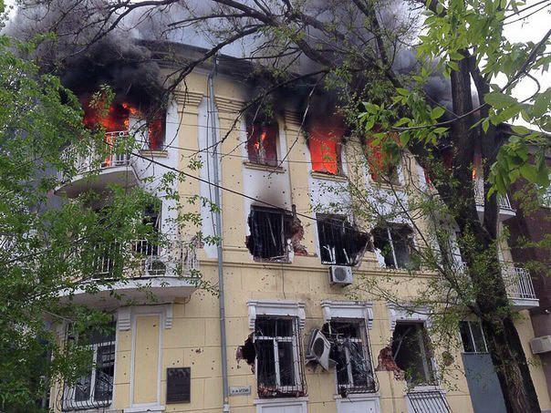 9 мая 2014 года: уличные бои в Мариуполе, войска киевской хунты убивают людей 1 (806 of 1)