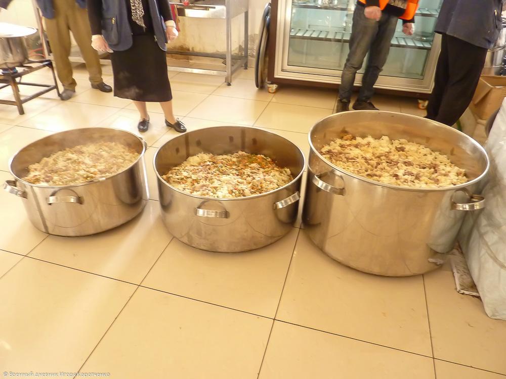 Кухня в центре ВПЛ в пригороде Дамаска