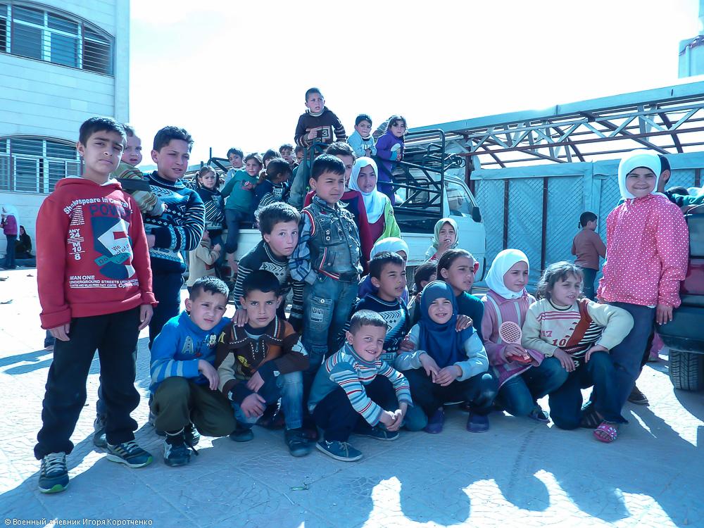 Снаружи центра ВПЛ в пригороде Дамаска 6