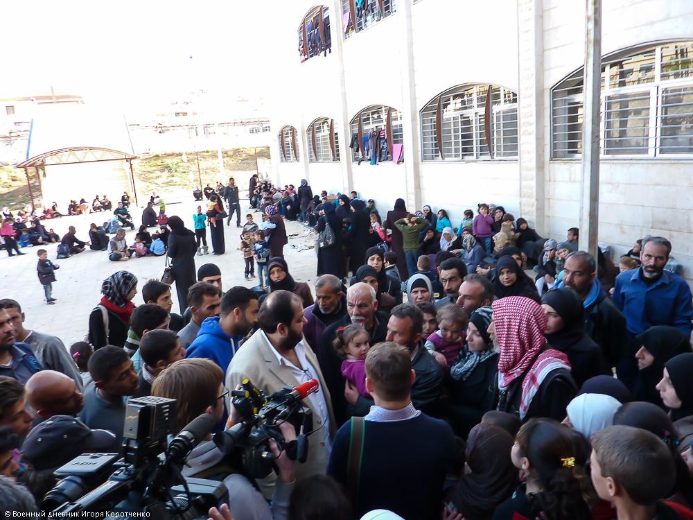 Снаружи центра ВПЛ в пригороде Дамаска 9